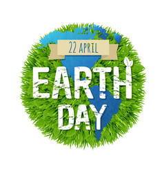 Green earth day vector