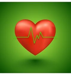 Healthy heart beat vector image
