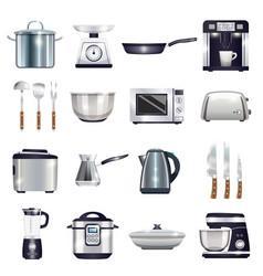 Kitchen accessories set vector