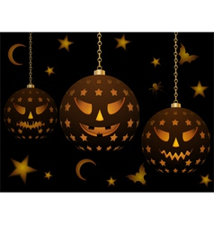lanterns for halloween vector image