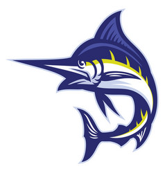 Marlin fish mascot vector