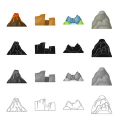 Mountains nature stone and other web icon in vector