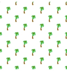 Palm tree pattern cartoon style vector image
