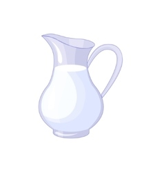 Pitcher With Fresh Milk Based Product Isolated vector image vector image