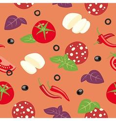 Pizza Diavolo Ingredients vector image