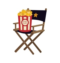 Pop corn chair cinema movie design vector