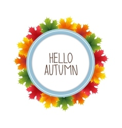 Round banner advertising and autumn vector