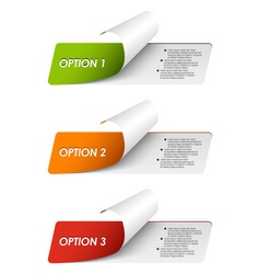 Set of colorful sample options stickers vector image vector image