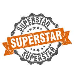 Superstar stamp sign seal vector