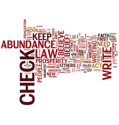 The law of abundance get what you need text vector
