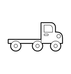 Tow truck for transportation emergency cars vector