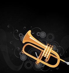 trumpet background vector image vector image