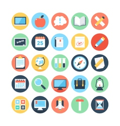 Modern education and knowledge colored icon 2 vector