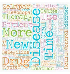 New therapy for parkinson s disease patients text vector