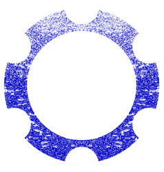 Gear wheel textured icon vector
