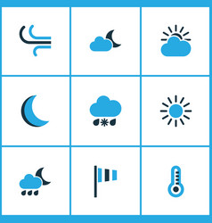 Nature colored icons set collection of moonshine vector