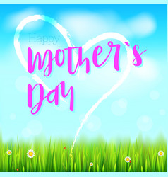 Happy mother day realistic greeting banner with vector
