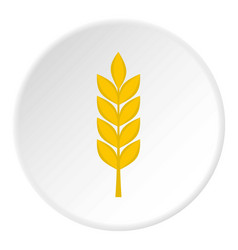 Wheat spike icon circle vector