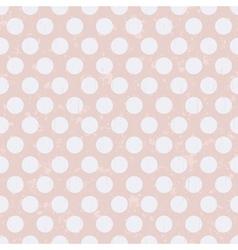 seamless retro polka dots texture background vector image