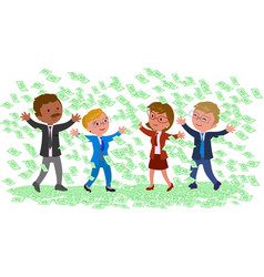 businessmen with a lot of money vector image