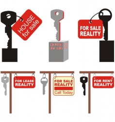 real estate symbol vector image