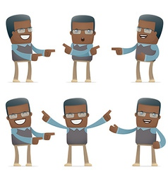 set of teacher character in different poses vector image