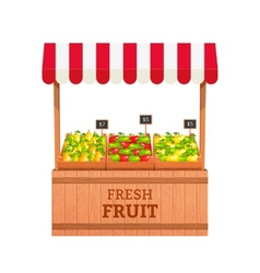 Fruit stand vector image
