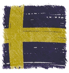 Flag of sweden handmade square shape vector