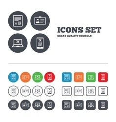 QR scan code icon Boarding pass flight sign vector image