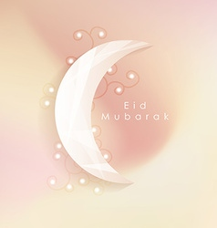 Islamic eid mubarak greeting card with soft vector