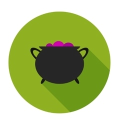 Witches cauldron vector