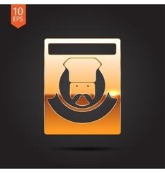 color flar chef icon vector image