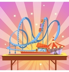 Amusement park cartoon vector