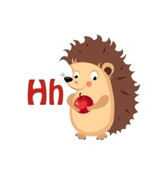 Hedgehog funny alphabet animal vector