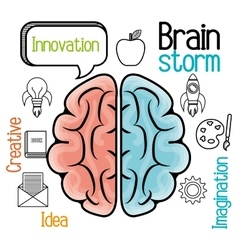 brain storming design vector image