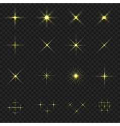 Golden blink icons vector