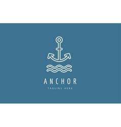 Anchor logo icon sea vintage or sailor vector