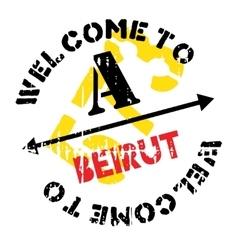 Beirut stamp rubber grunge vector