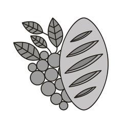 Bread and wine icon vector