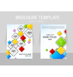 Colorful squares flyer template vector