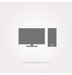 computer pc icon button vector image