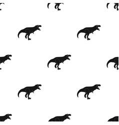 Dinosaur tyrannosaurus icon in black style vector
