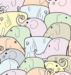 Elephant color pattern vector