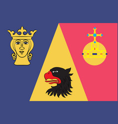 Flag of stockholm county of sweden vector