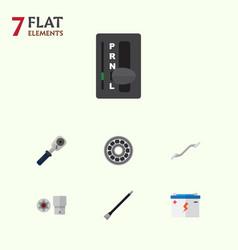 Flat service set of accumulator pipeline brake vector