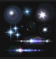 glowing lights stars and sparkles vector image