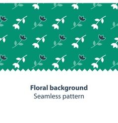 Green flowers fancy backdrop pattern vector image