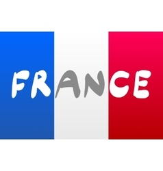 Grunge Flag Of France national vector image