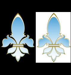 heraldic lily vector image vector image