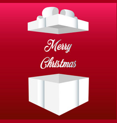 magic gift box with a big surprise vector image vector image